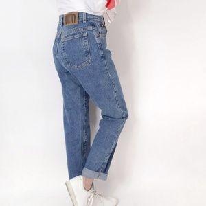 Vintage DKNY USA high waist mom Jeans faded light